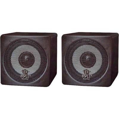 3 in. 100-Watt Mini Cube Speaker - Black