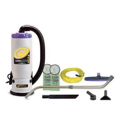 Super QuarterVac HEPA Backpack Vacuum with 14 in. Multi-Surface Floor Tool and Telescoping Wand