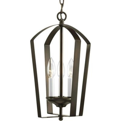 Gather Collection 3-Light Antique Bronze Foyer Pendant