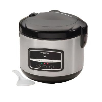 16-Cup Digital Stainless Steel Electric Rice Cooker/Steamer