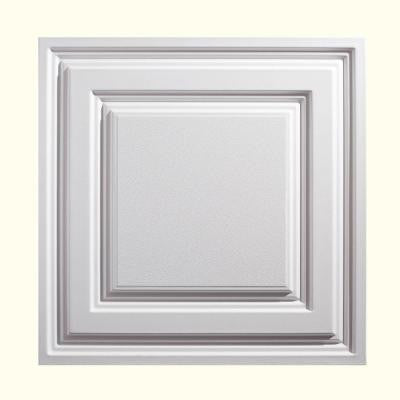 2 ft. x 2 ft. Icon Relief White Ceiling Tile