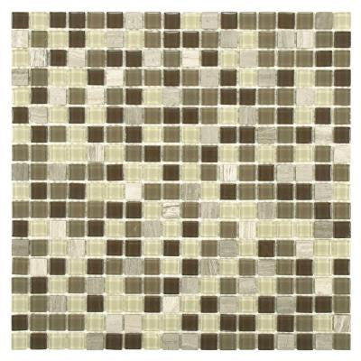 Spectrum Mini Aegis 11-3/4 in. x 11-3/4 in. x 4 mm Glass and Stone Mosaic Wall Tile