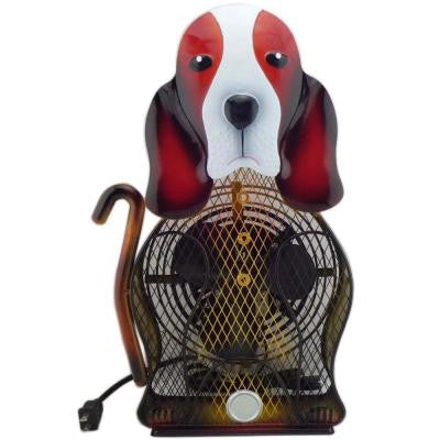 9 in. Himalayan Breeze Decorative Basset Hound Table top Fan (Large)