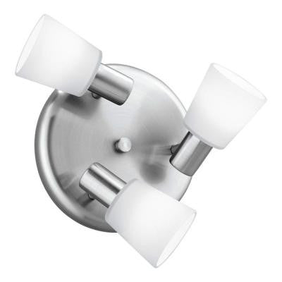 Gino 3-Light 60-Watt Wall or Ceiling Matte Nickel Light