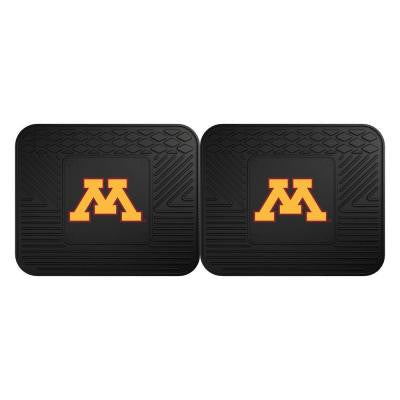 NCAA University of Minnesota Black Heavy Duty 2-Piece 14 in. x 17 in. Vinyl Utility Mat