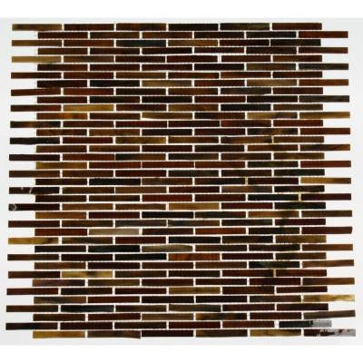 12 in. x 12 in. x 8 mm Glass Mosaic Floor and Wall Tile