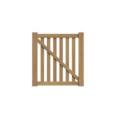 Colorado 4 ft. x 4 ft. Cypress Vinyl Un-Assembled Fence Gate