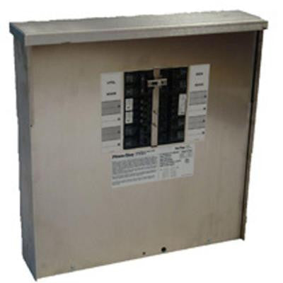50-Amp 12,500-Watt Outdoor Manual Transfer Switch for 12-16 Circuits