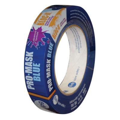 0.94 in. x 60 yds. ProMask Blue Painter's Tape with Bloc It