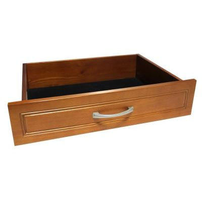 6 in. x 16 in. Deep Woodcrest Closet Drawer Kit in Caramel