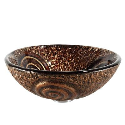 Luna Glass Vessel Sink in Multicolor