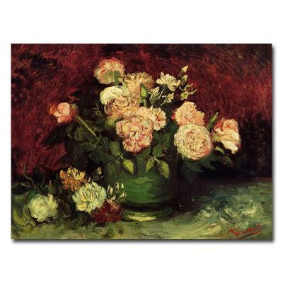 26 in. x 32 in. Peonies and Roses Canvas Art