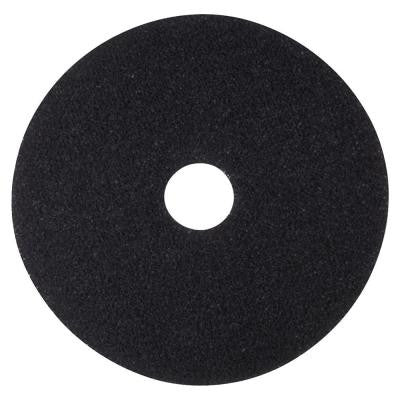 12 in. Black Stripping Pads (5 per Carton)
