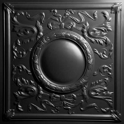 Bella Black 2 ft. x 2 ft. Lay-in or Glue-up Ceiling Panel (Case of 6)