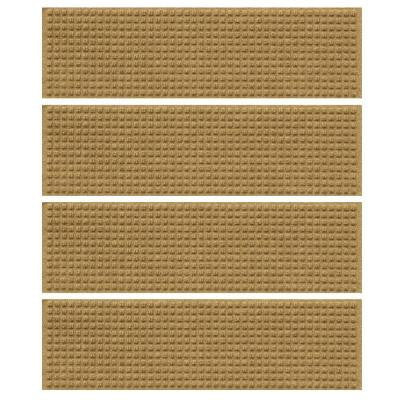 Gold 8.5 in. x 30 in. Squares Stair Tread (Set of 4)