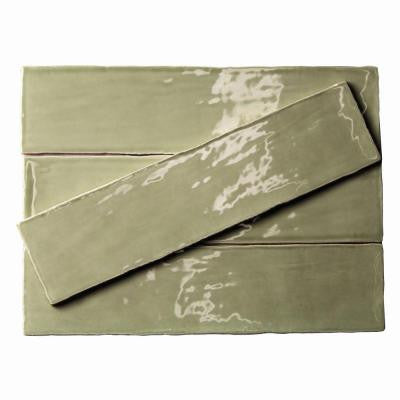 Catalina Kale 3 in. x 12 in. x 8 mm Ceramic Floor and Wall Subway Tile