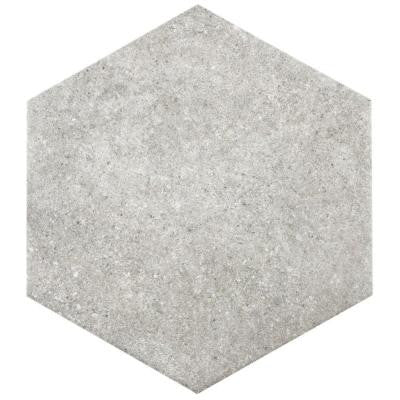 Traffic Hex Grey 8-5/8 in. x 9-7/8 in. Porcelain Floor and Wall Tile (11.19 sq. ft. / case)