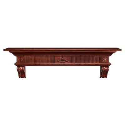 The Devonshire 6 ft. Cherry Distressed Cap-Shelf Mantel