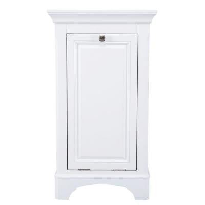 Moorpark 19 in. W x 34 in. H Hamper in White