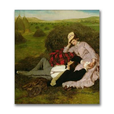 24 in. x 24 in. The Lovers,1870 Canvas Art