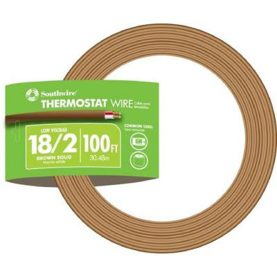 100 ft. 18/2 Thermostat Wire - Brown