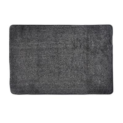 Trek N' Clean Gray/Black 23.5 in. x 36 in. Door Mat