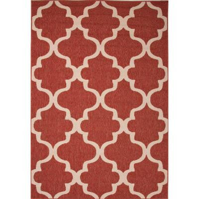 Hand Made Jester Red 7 ft. 11 in. x 10 ft. Moroccan Area Rug