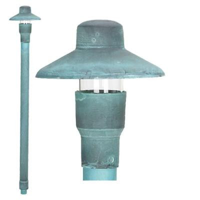 LV22VRD Landscape Lighting Path Light Low Voltage (12V) Die Cast Brass G4 Green Verde