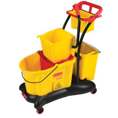 35 Qt. Yellow WaveBrake Side Press Mopping Trolley