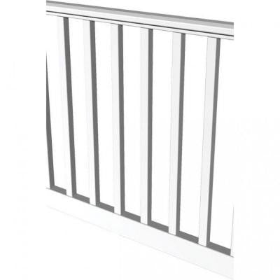Original Rail 8 ft. x 36 in. White Square Baluster Level Rail Kit