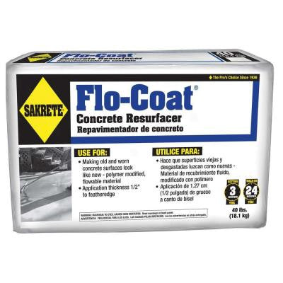 40 lb. Gray Flo-Coat Concrete Resurfacer