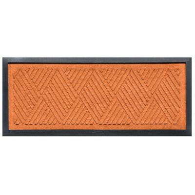 Orange 15 in. x 36 in. Diamonds Boot Tray