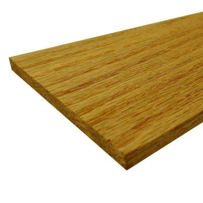 1/4 in. x 8 in. x 2 ft. S4S Select Red Oak Board (Actual Size: 1/4 in. x 7-1/4 in. x 24 in.) (5-Piece/Case)