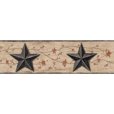 6 in. Barn Star and Vine Border
