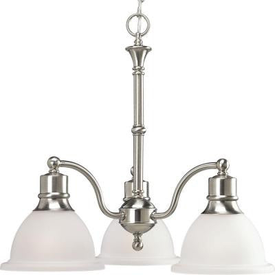 Madison 3-Light Brushed Nickel Chandelier