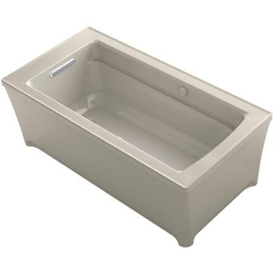 Archer 5 ft. Freestanding Air Bath Tub in Sandbar