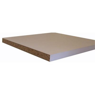 Melamine White Shelf Board (Common: 3/4 in. x 23-3/4 in. x 8 ft.; Actual: 0.75 in. x 23.75 in. x 97 in.)