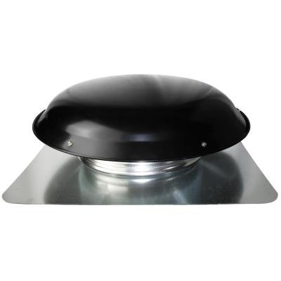 Cool Attic 1600 CFM Heavy-Duty Black Galvanized Steel Power Attic Roof Ventilator