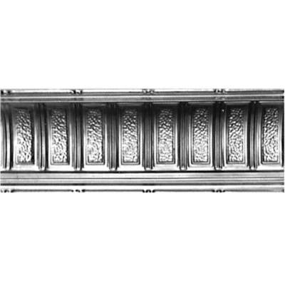 6 in. x 4 ft. x 6 in. Clear Lacquer Steel Nail-up/Direct Application Tin Ceiling Cornice (6-Pack)