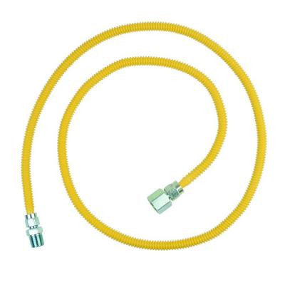 ProCoat 1/2 in. FIP x 1/2 in. MIP x 60 in. Stainless Steel Gas Connector 3/8 in. O.D. (24,900 BTU)