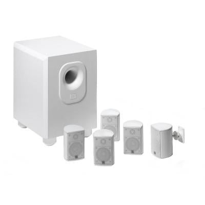 Architectural Edition Powered by JBL 5.1-Channel Home Theater System in White with Wall Brackets