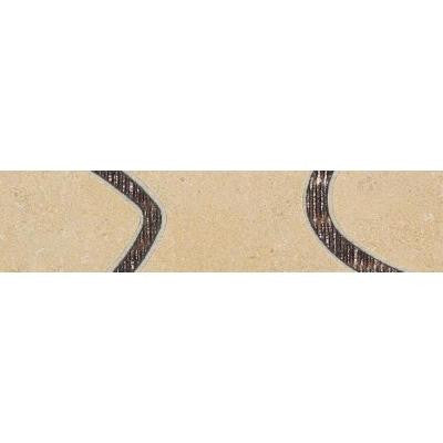 City View District Gold 3 in. x 12 in. Porcelain Decorative Floor and Wall Tile