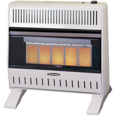 26,000 - 30,000 BTU Infrared Dual-Fuel Wall Heater with Blower