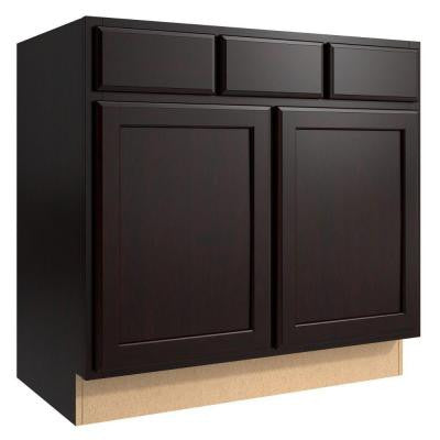 Stig 36 in. W x 21 in. D x 34.5 in. H Vanity Cabinet Only in Coffee