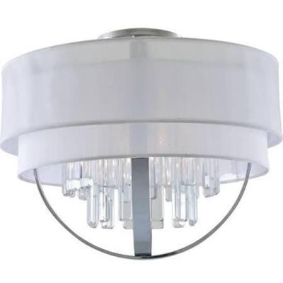 Celestial 5-Light Chrome Semi-Flush Mount Light