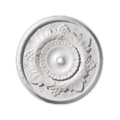 24 in. x 24 in. x 2-9/32 in. Polyurethane Grapeleaf Ceiling Medallion