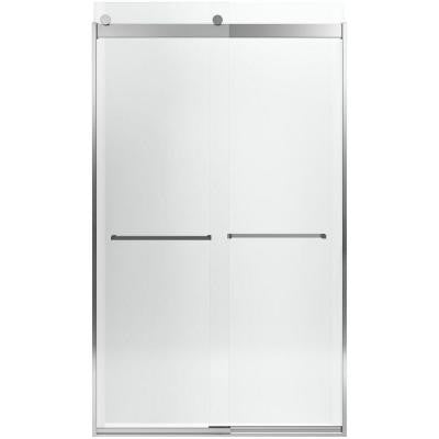 Levity 47-5/8 in. x 82 in. Heavy Semi-Framed Sliding Shower Door in Bright Polished Silver
