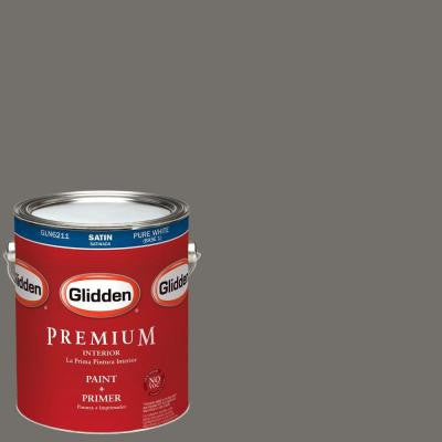 1-gal. #HDGCN52U Grey Hearth Satin Latex Interior Paint with Primer