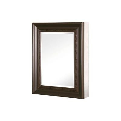 20 in. x 26 in. Mirrored Recessed or Surface Mount Medicine Cabinet with Framed Door in Oil Rubbed Bronze