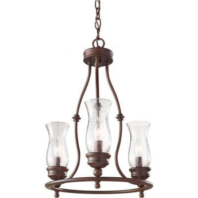 Pickering Lane 3-Light Heritage Bronze 1-Tier Chandelier